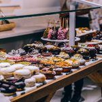 Donuts on a table for a massive cheat day.