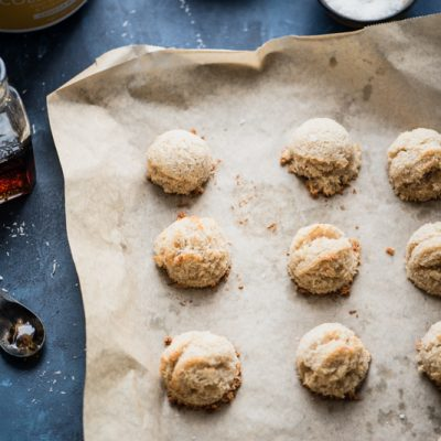 My Maple Vanilla Coconut Macaroons are so simple to make and come with a superfood boost. They're gluten-free, refined sugar-free, and paleo friendly! | StupidEasyPaleo.com