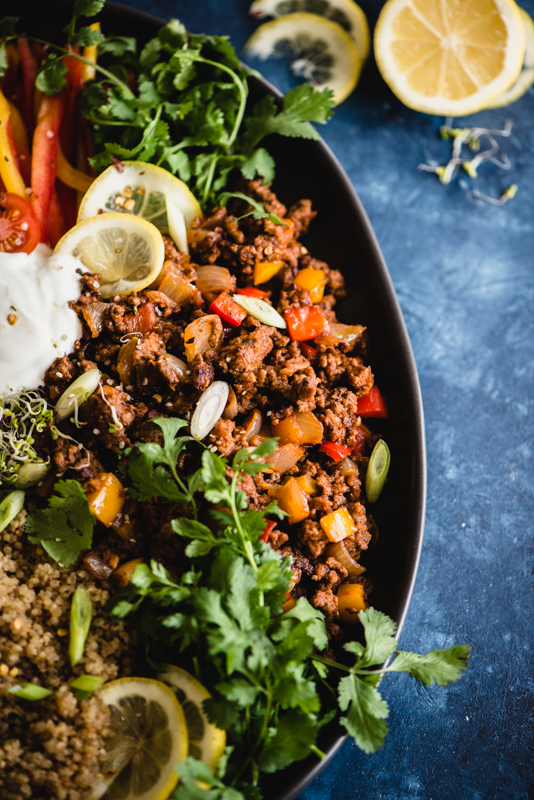 Deconstructed Stuffed Pepper Bowl | StupidEasyPaleo.com