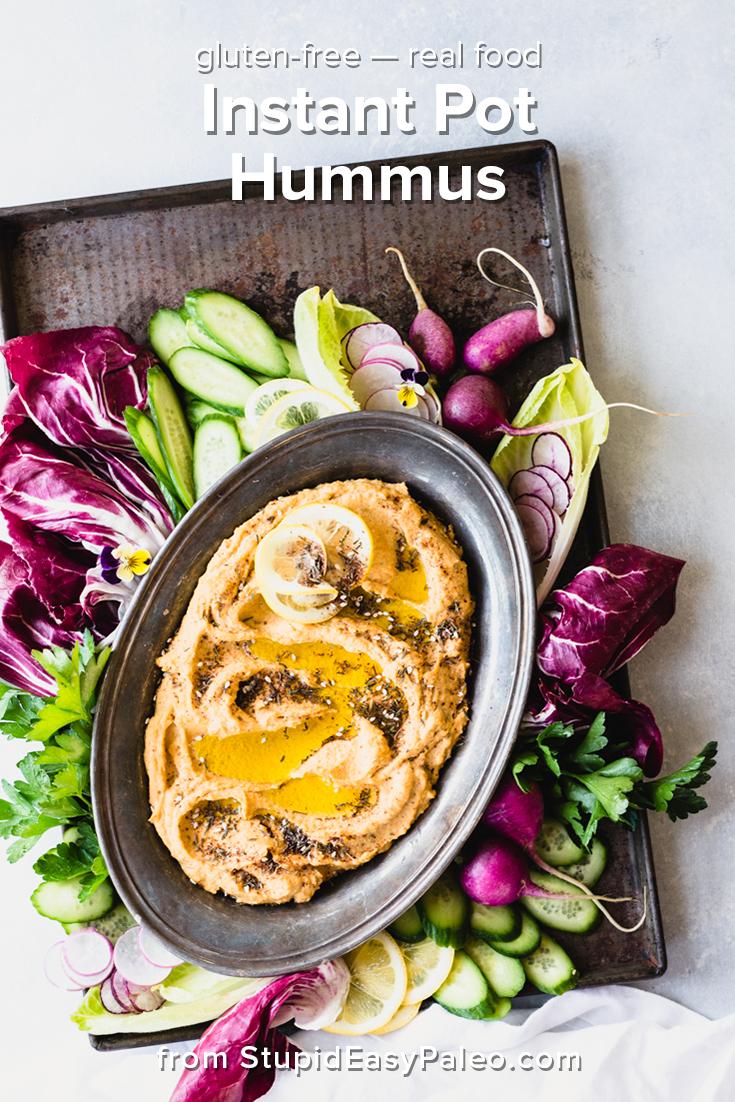 Instant Pot Hummus | StupidEasyPaleo.com