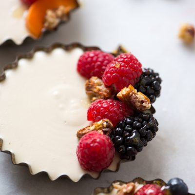 Dairy-Free Cheesecake with Berries | StupidEasyPaleo.com