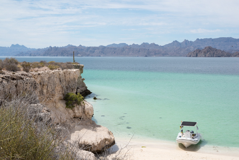 turquoise blue water of the Sea of Cortez near Loreto, Mexico