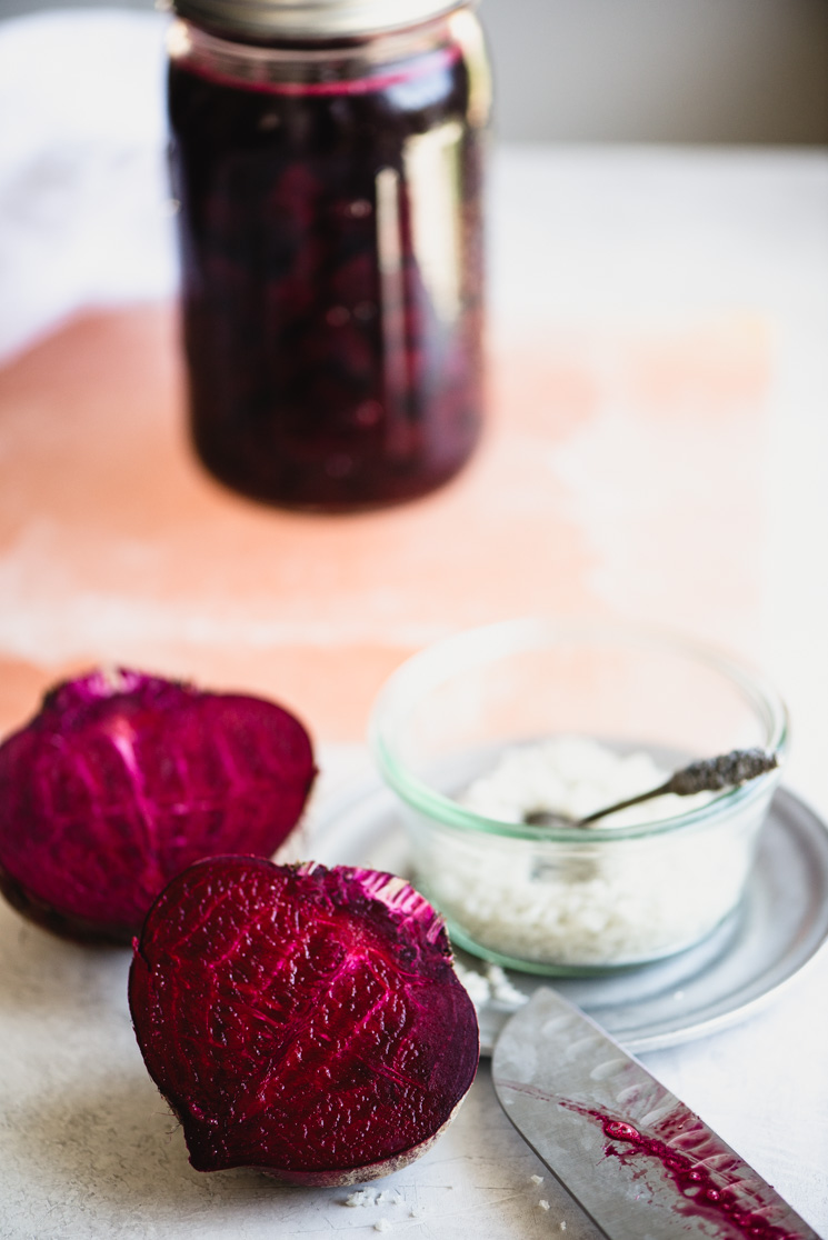 Homemade beet kvass is a delicious, healthy, fermented, and easy to make probiotic-rich drink. Learn the simple method for making your own beet kvass at home and the health benefits of drinking beet kvass in this easy to follow tutorial. | StupidEasyPaleo.com