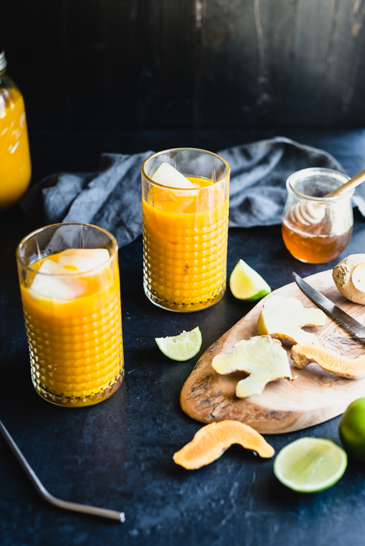 Healing Turmeric Root Tonic is a great way to stay cool this summer. It's hydrating and the bright yellow turmeric fights inflammation. It's simple to make with just four main ingredients. Get the recipe now! Paleo and gluten-free. | StupidEasyPaleo.com