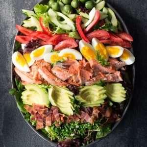 Salmon Cobb Salad | StupidEasyPaleo.com