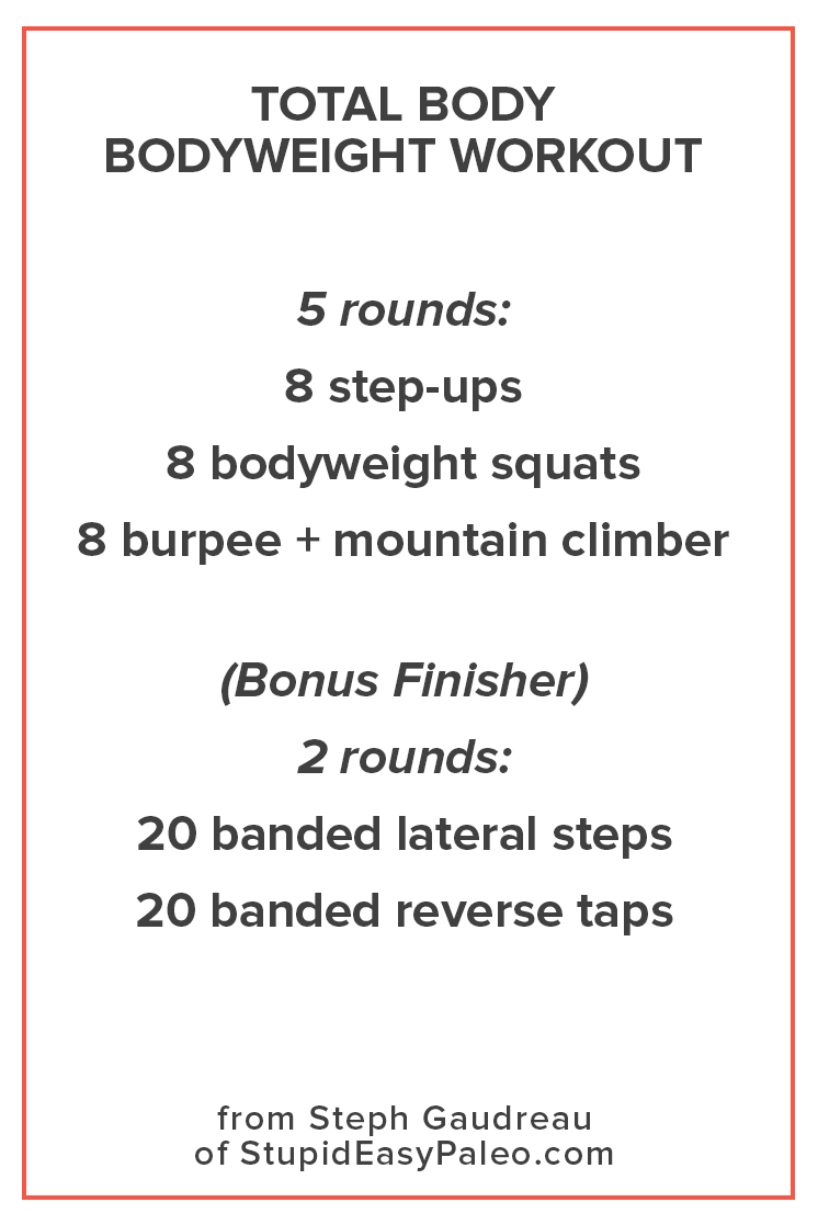 Bodyweight Workout You Can Do Anywhere | StupidEasyPaleo.com