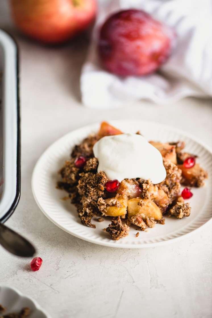 Gluten Free Apple Crisp With Cranberries Steph Gaudreau