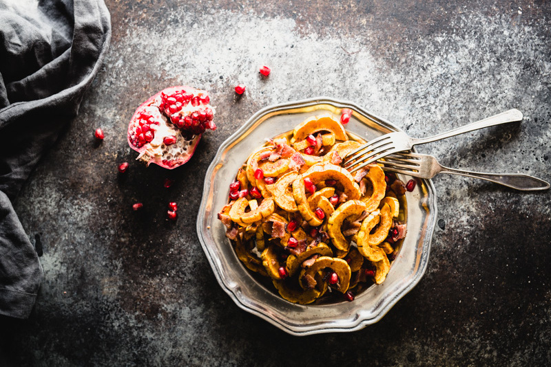 Roasted Delicata Squash with Maple & Bacon | StephGaudreau.com