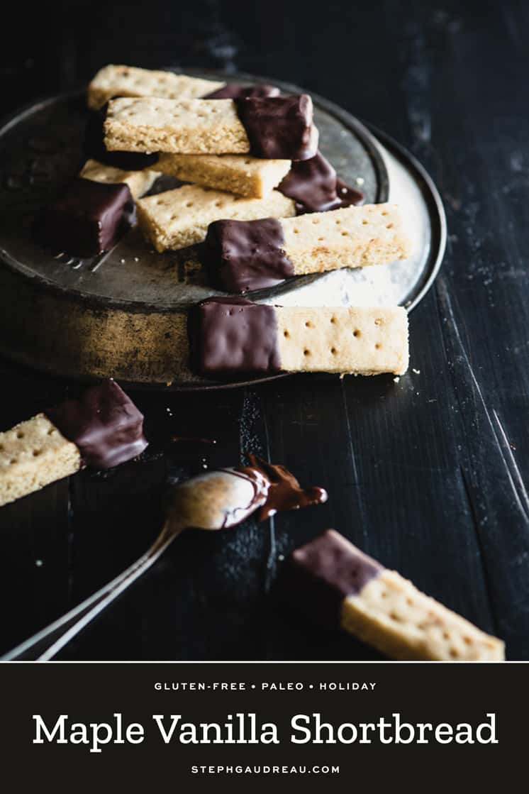 This Maple Vanilla shortbread is a gluten-free version that's more tender than the traditional recipe, but delivers the same classic buttery flavor. | StephGaudreau.com