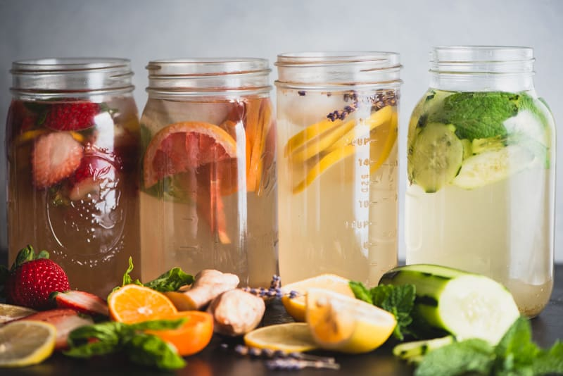 Getting a bit bored with your hydration routine? In this post, I'm sharing four great ideas for boosting your water intake and livening up your liquids! | StephGaudreau.com