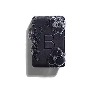 black bar of charcoal soap