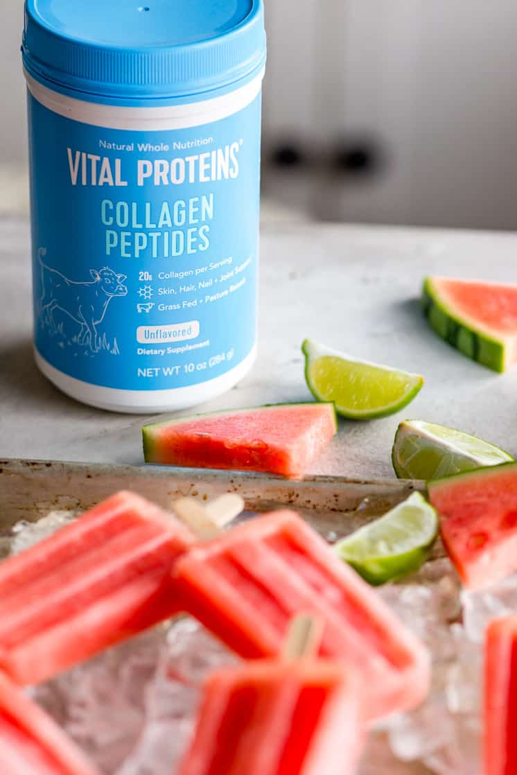 blue container of vital proteins collagen peptides