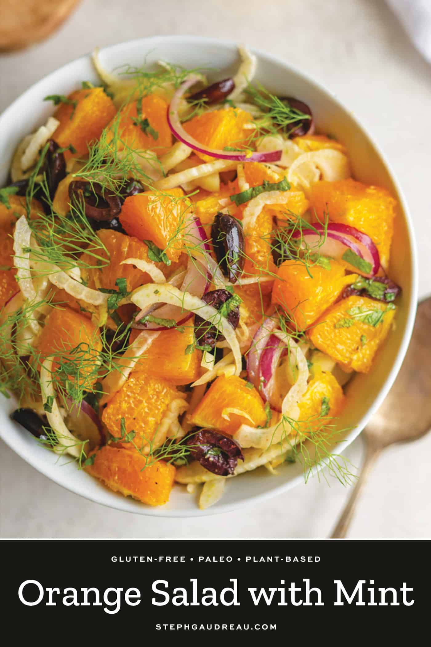 pinterest pin for orange salad
