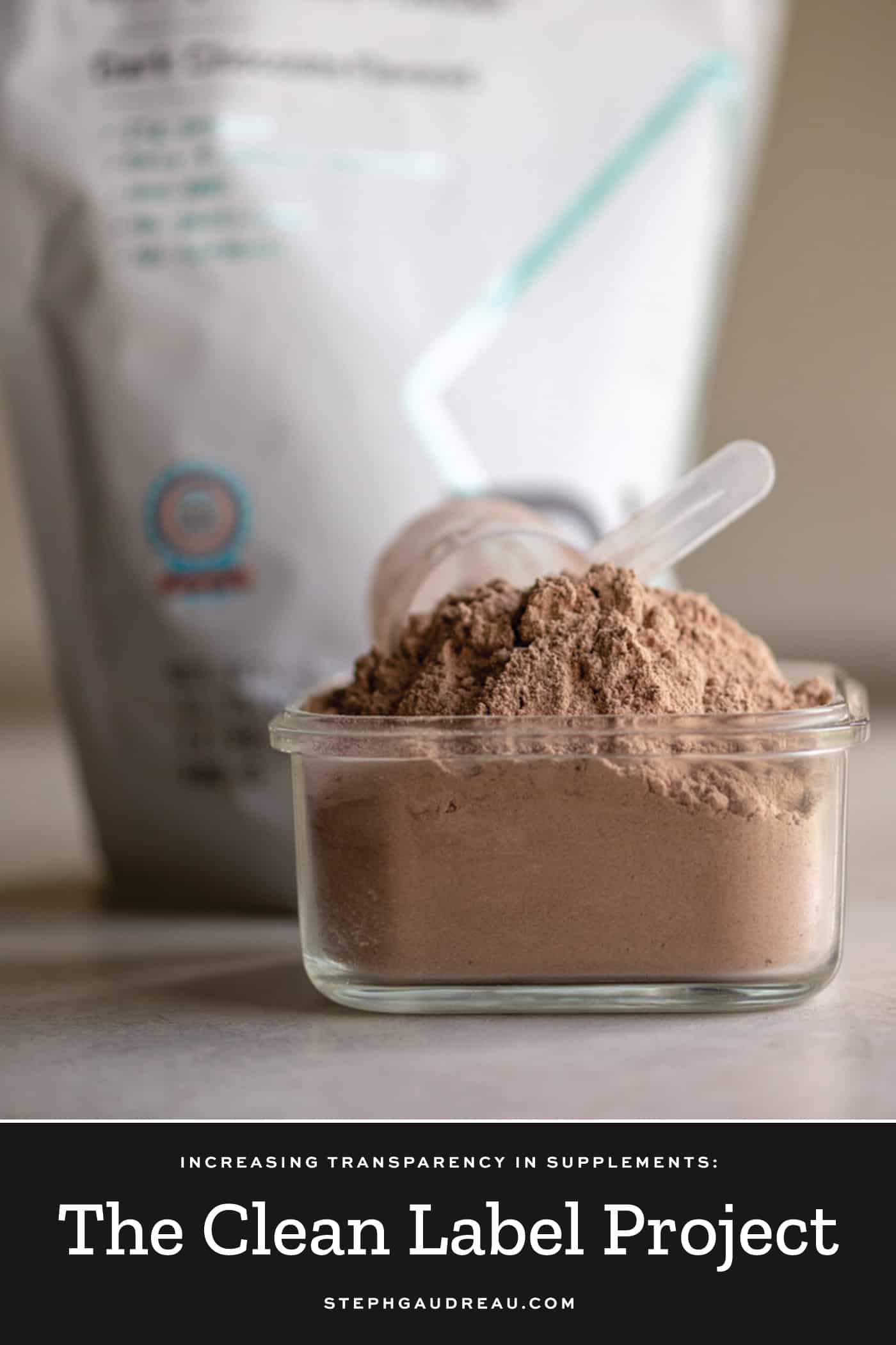 chocolate protein powder certified by the clean label project