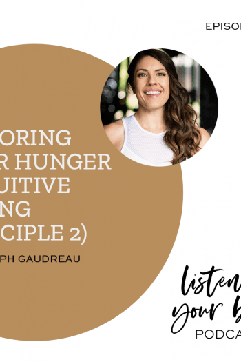Listen To Your Body Podcast 289 Honoring Your Hunger (Intuitive Eating Principle 2) w/ Steph Gaudreau