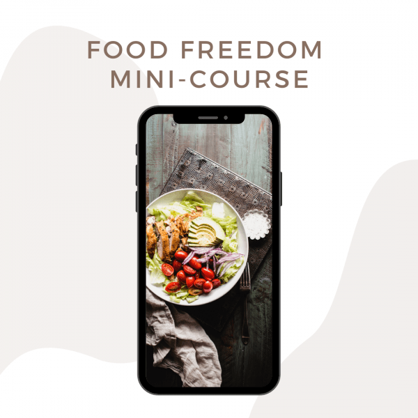 digital mockup of a food photo on an iphone screen